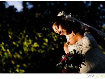 Fotografía de bodas elegante con Aida y Diego