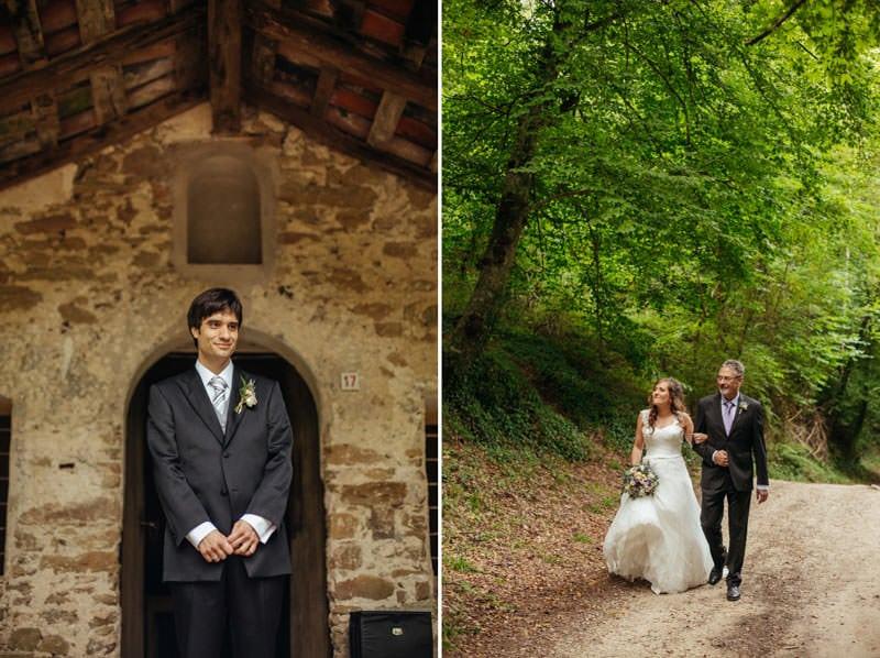 boda bosque vintage