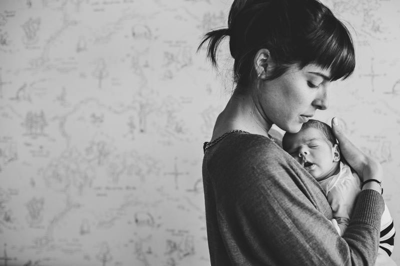 sesion fotografica madre bebe