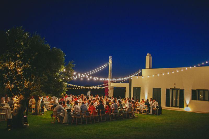 verbena bombillas boda aire libre