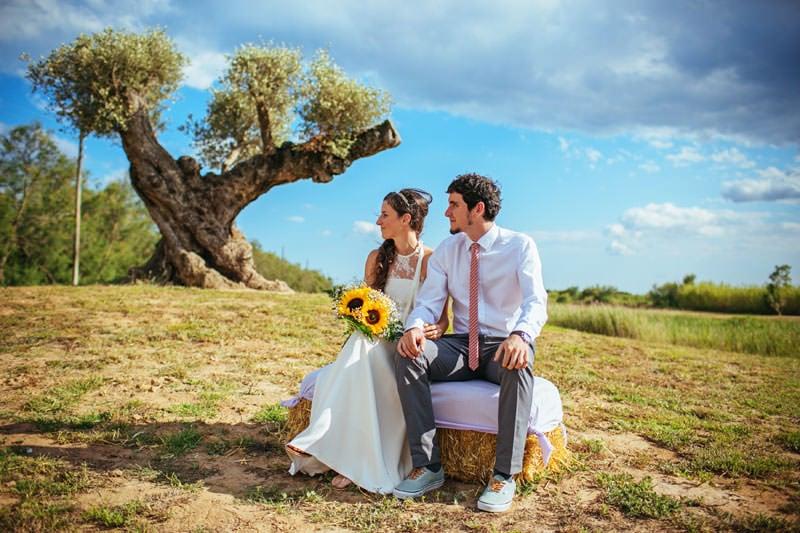 boda entre olivos