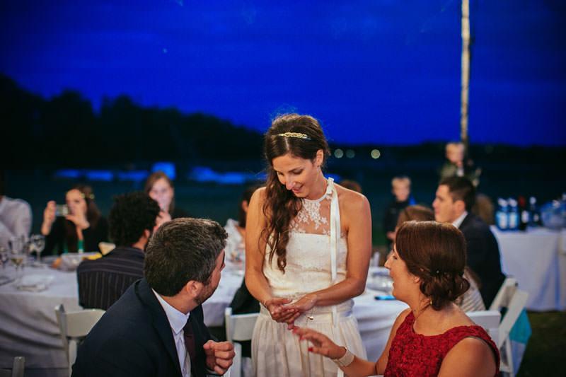 boda noche aire libre