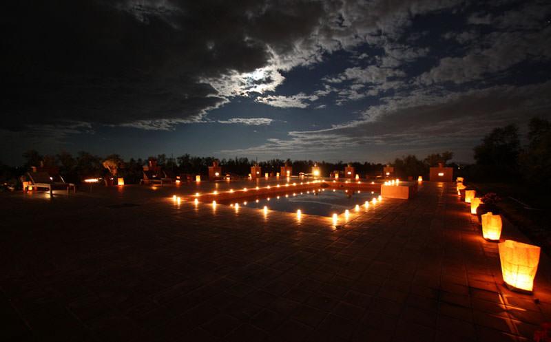 boda velas de noche