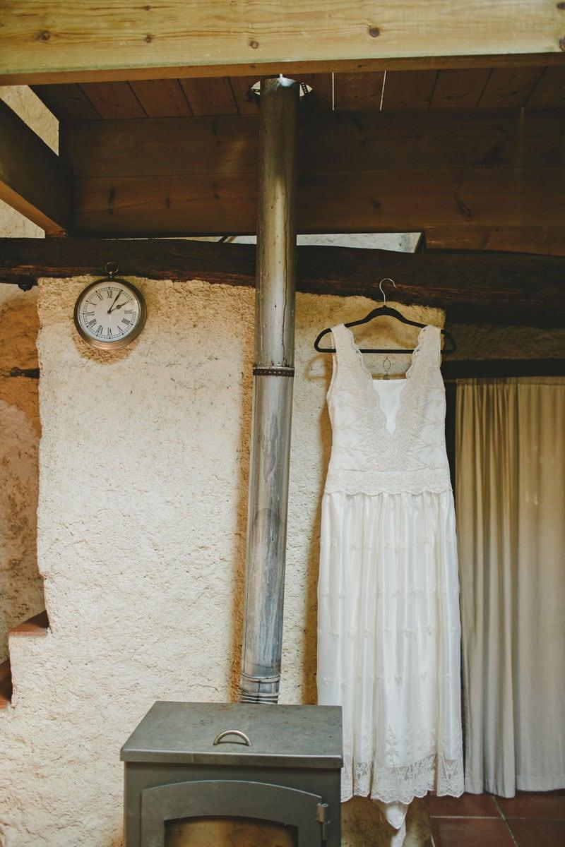 vestido novia boda campo