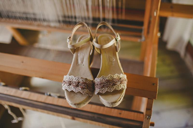 zapatos novia boda campo