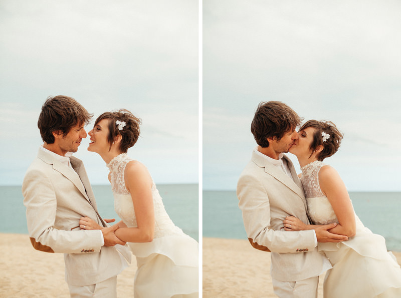 fotografias boda playa barcelona