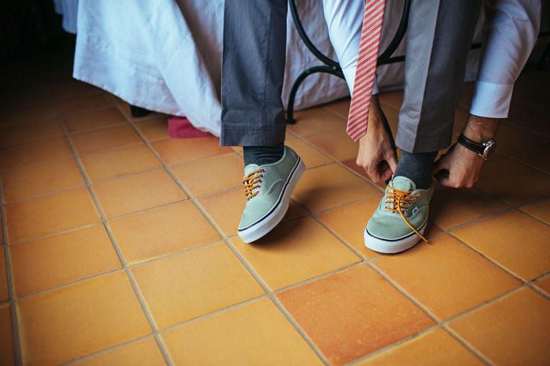 zapatillas vans boda