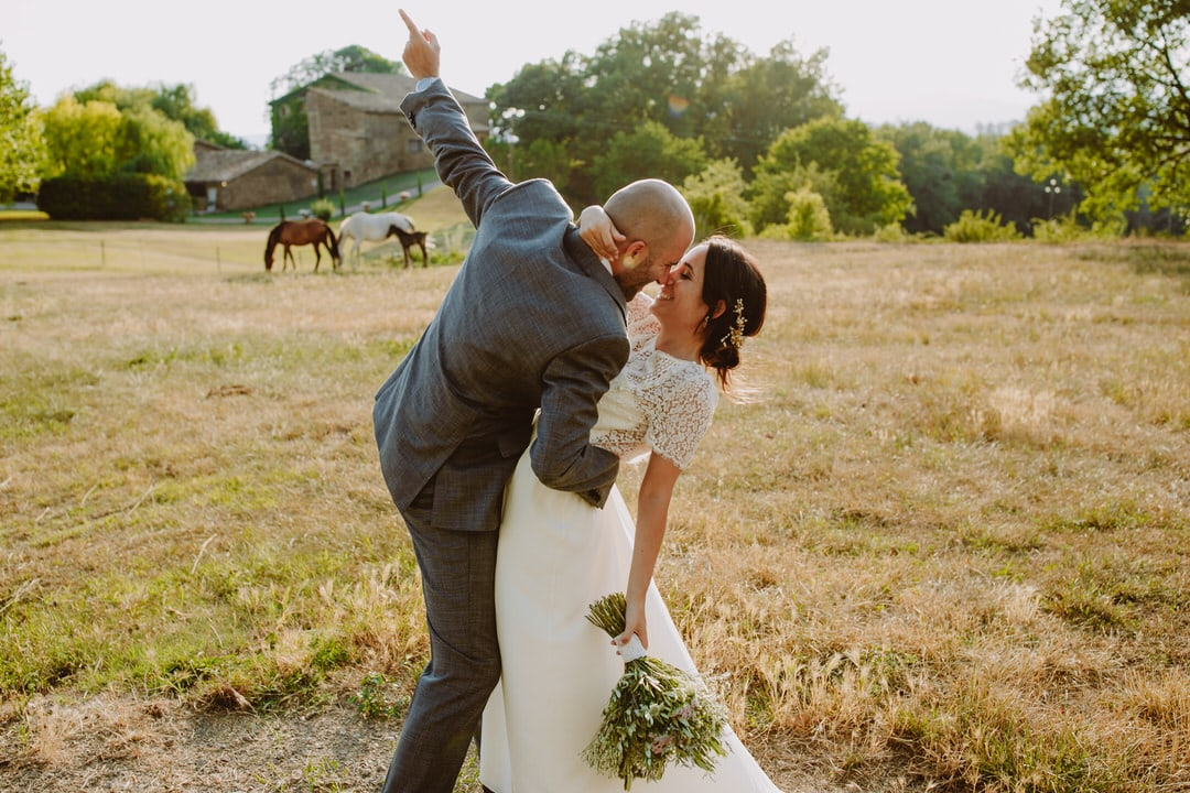 fotografias boda entre caballos