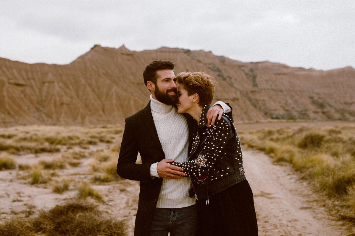 fotos pareja desierto