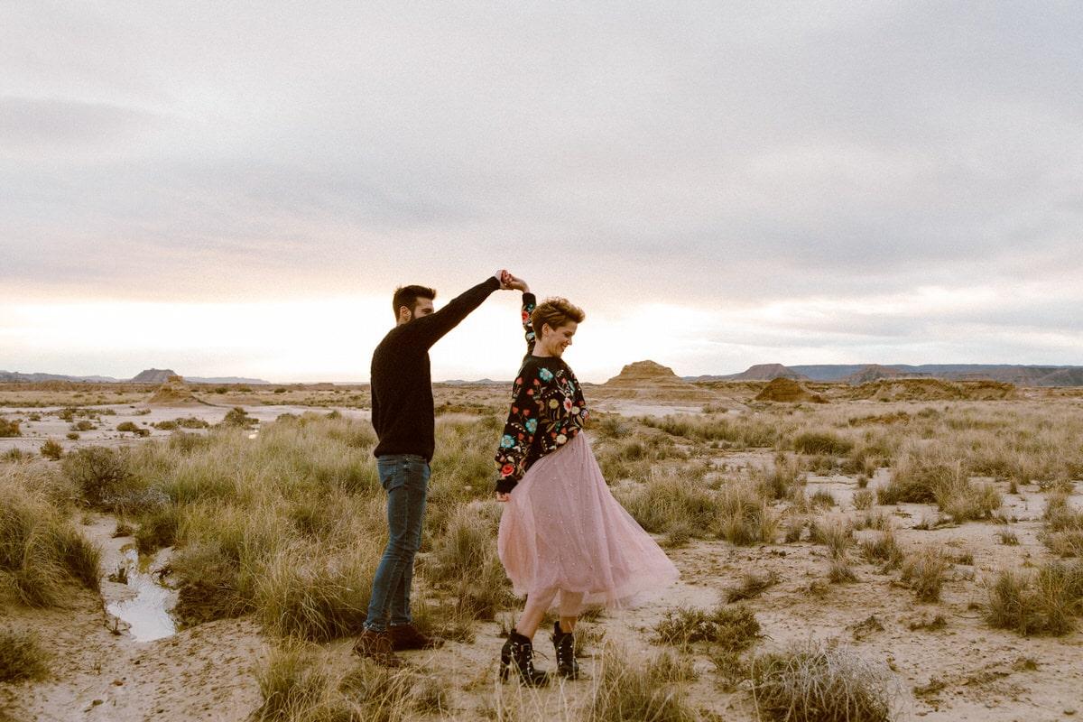 sesion pareja desierto