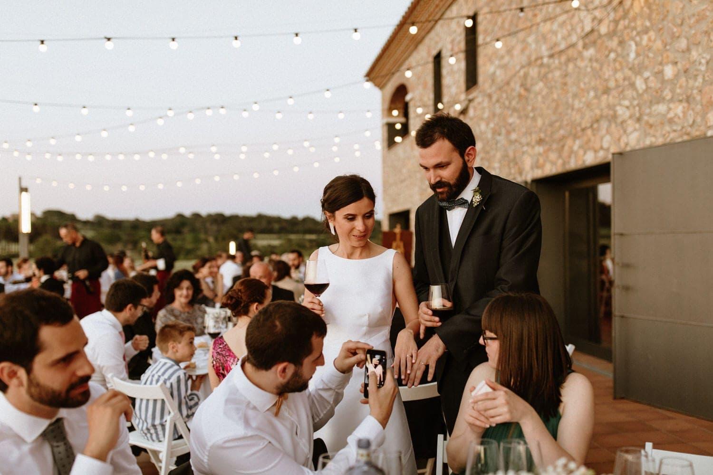 cena boda aire libre verbena luces