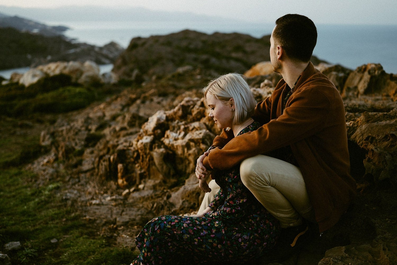 fotos romanticas acantilados costa brava